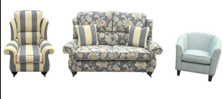 Greville Sofa, Chair and Tub Chair