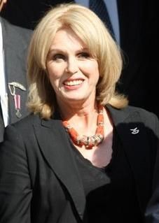 I love Joanna Lumley, she was so pretty as a young woman, and she is so funny now, both in person and in character