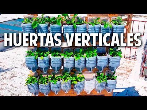 3 huertas verticales geniales con materiales reciclados y un lombricompostador @cosasdeljardin - YouTube