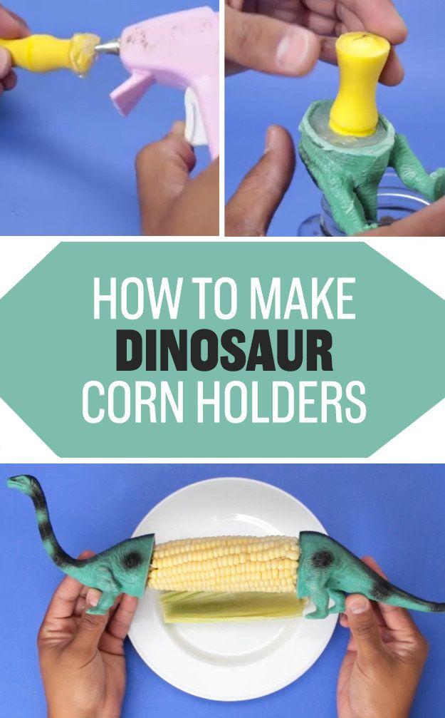 Enjoy bushels of corn without any burned fingers by making these dinosaur toy…