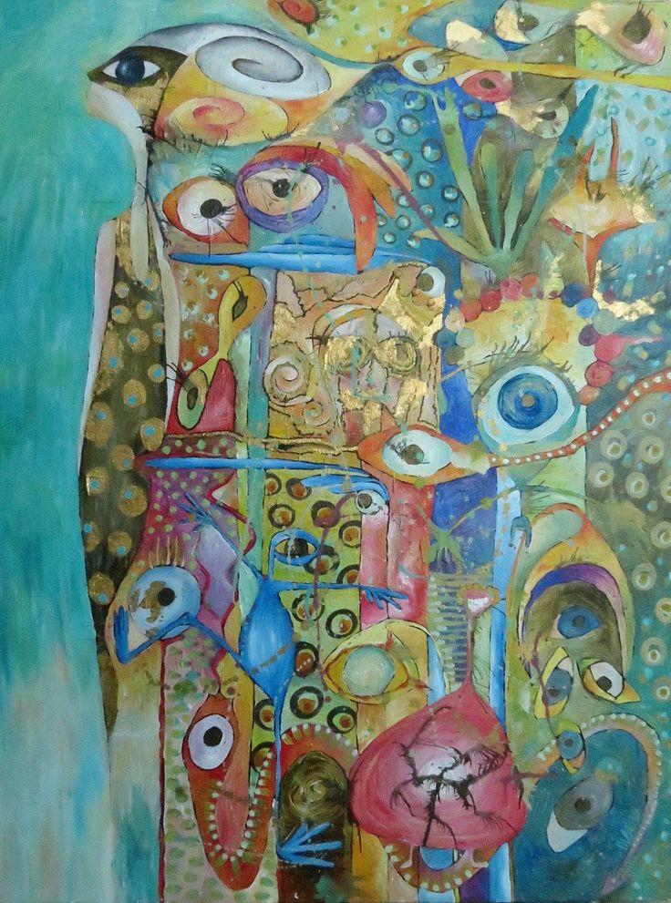 pittura acrilica su tela,acrilico,dipinto su tela,quadro figurativo,donna,turchese oro,foglia oro,arte moderna,originale Al numero nove di decorandom su Etsy