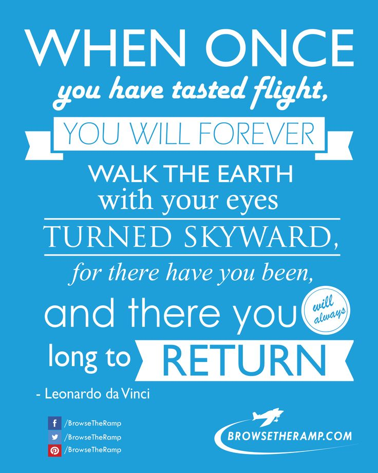 Aviation Quote from Leonardo da Vinci www.browsetheramp.com #aviation #avgeek