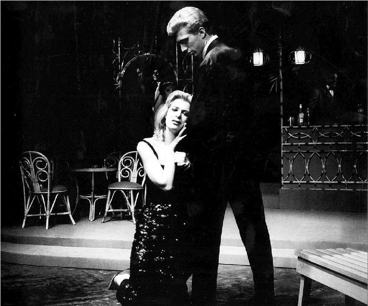 Η Μελίνα Μερκούρη και ο Γιάννης Φέρτης στο «Γλυκό πουλί της νιότης» του Τενεσί Γουίλιαμς, στην περίφημη παράσταση του Θεάτρου Τέχνης το 1960