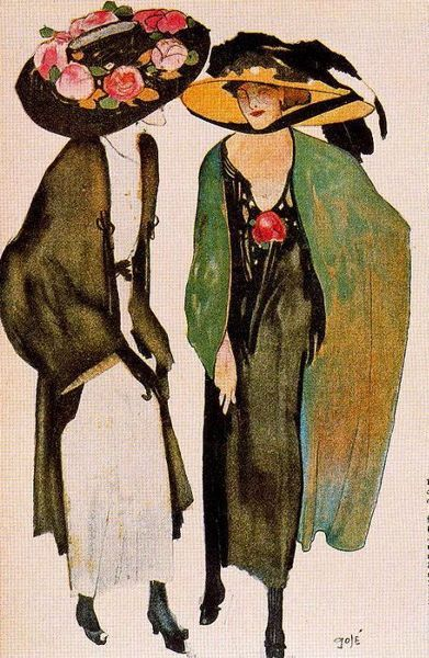 untitled work by Francesc Xavier Gosé i Rovira (1876-1915), Catalonian painter and illustrator who worked in the Art Nouveau and Art Déco styles (wiki) - (bertc)