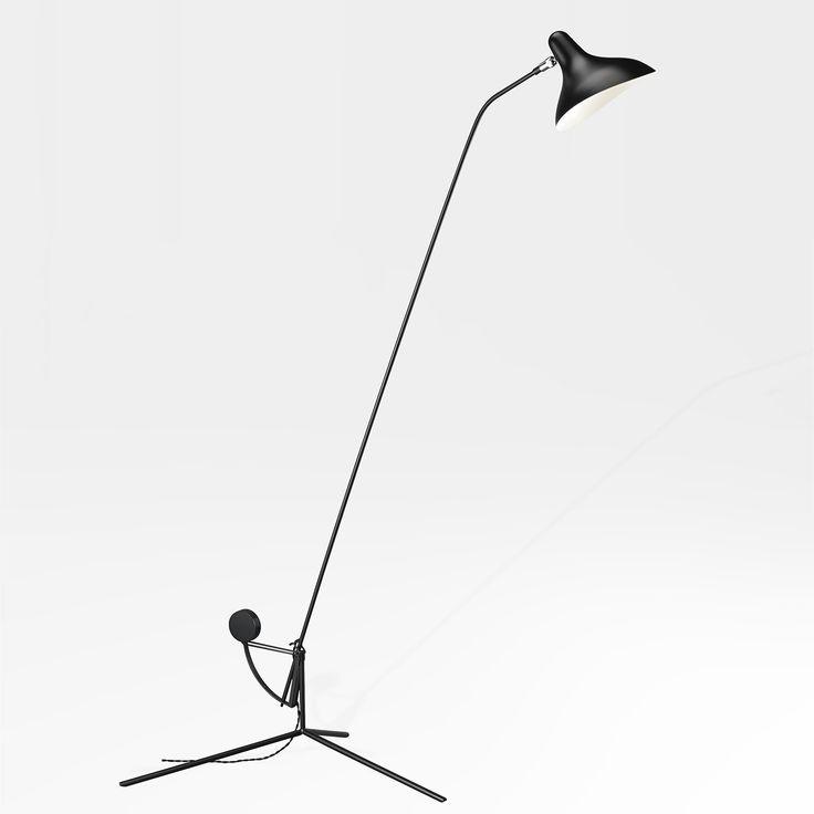 Mantis BS1 Floor Lamp - Black with Tripod Base