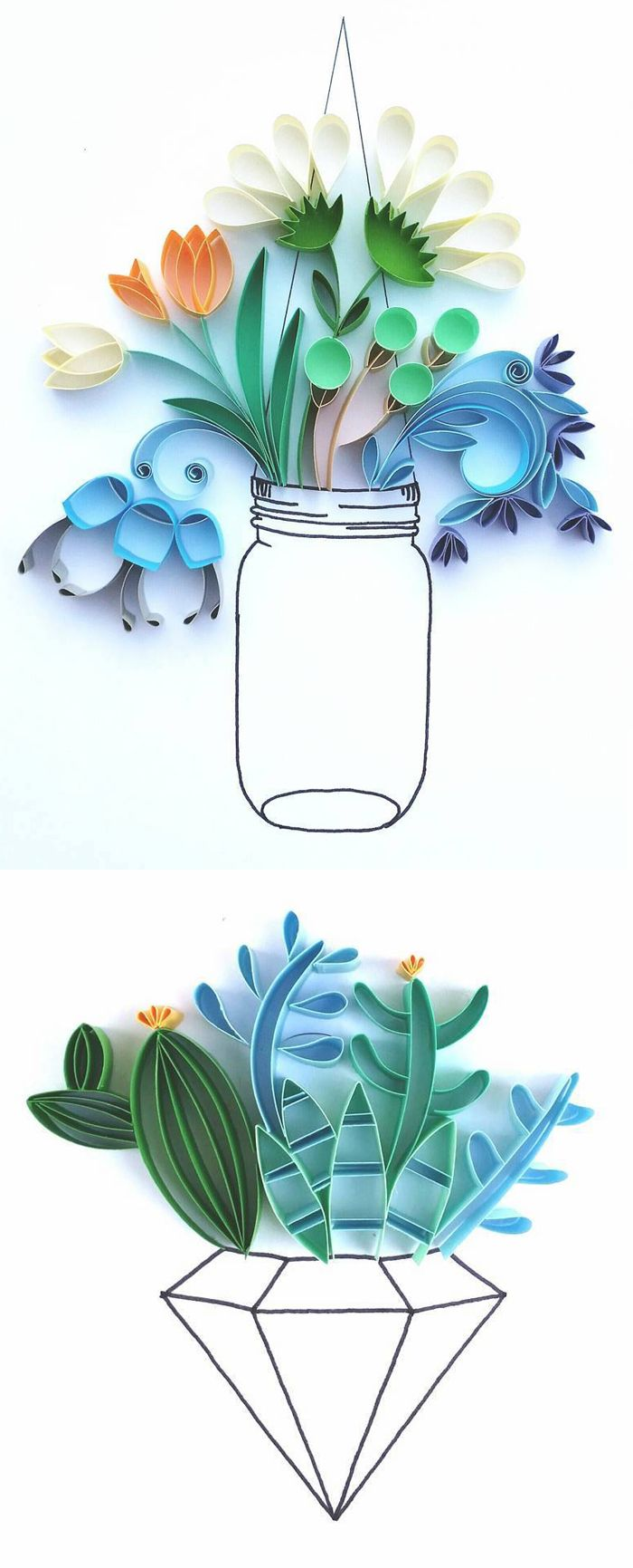 Paper quilling by Meloney Celliers // paper craft // paper flowers
