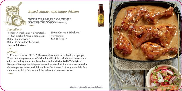 Mrs Ball's Chutney Baked chutney and mayo chicken