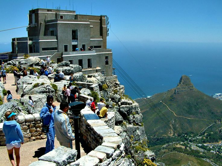 The top cable station on the top of Table Mountain, Cape Town, South Africa.