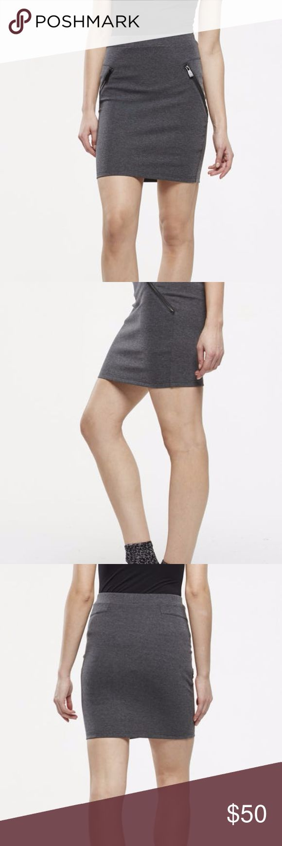 Eleven Paris Gray Knit Skirt Knit skirt perfect to dress up or down in heels and flats! Eleven Paris Skirts Mini