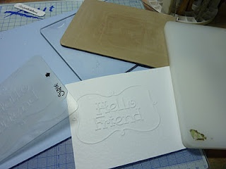 Cuttlebugging small embossing folders without those annoying lines!