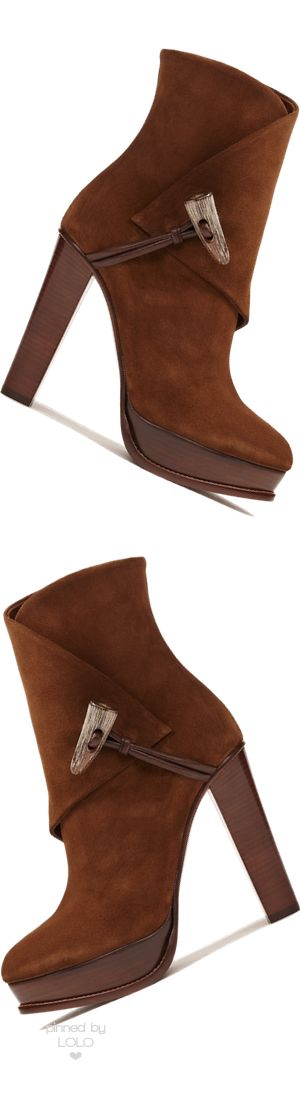 Ralph Lauren Horn-Toggle Suede Boot | LOLO