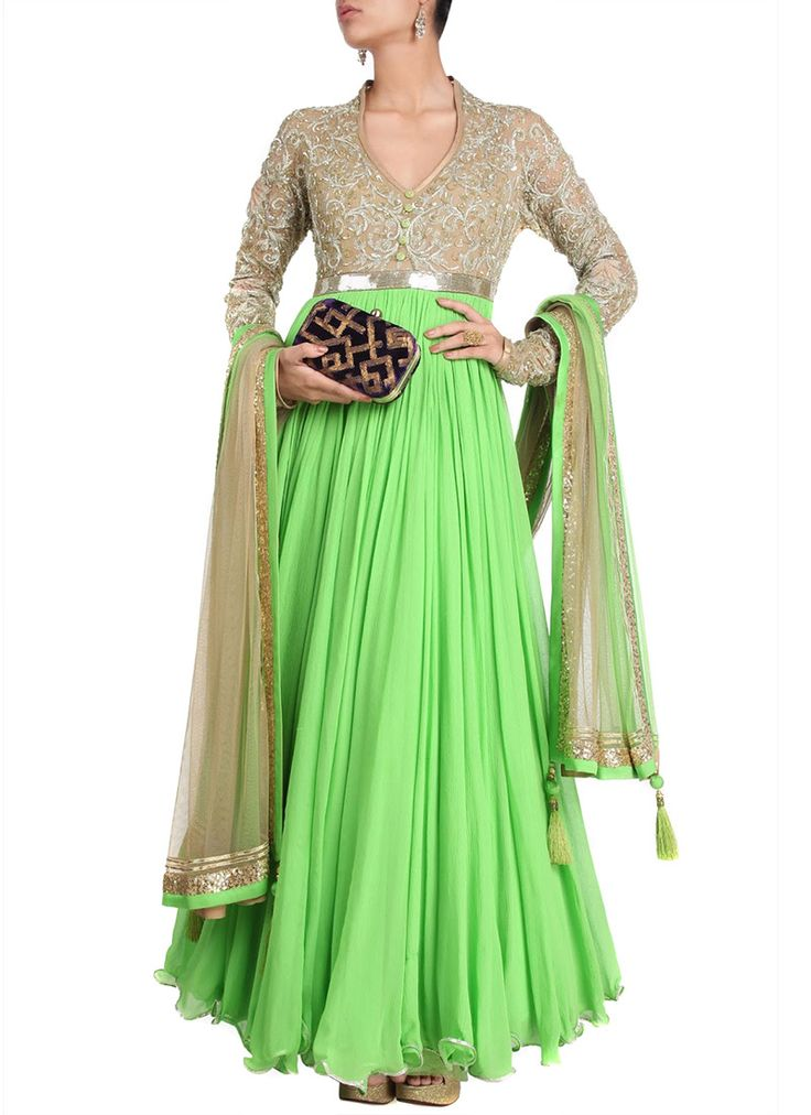 Majestic Pure Chiffon Floor Length Anarkali Suit