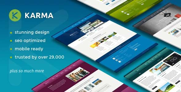 Karma Responsive Premium WordPress Themes is build using latest SEO Techniques.It is build by professional web developers.You can make your blog search engine