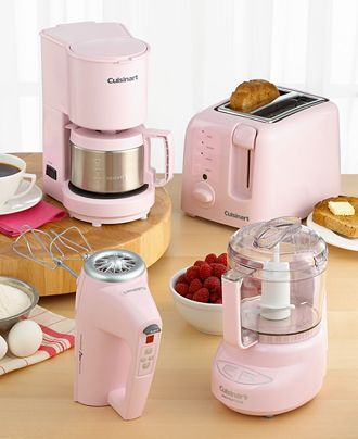 Pink I Have The Coffeemaker Toaster And Mixer Still Need Food Processor Pink Kitchen Appliancespink