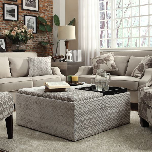 Love The Style Of This Ottoman Inspire Q Montrose Grey