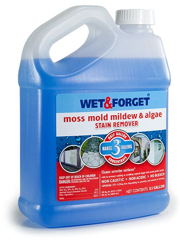 Wet & Forget | The Ultimate Mold & Mildew Remover. Requires no scrubbing, no rinsing and no pressure washing. Simply apply to any exterior surface and let Wet & Forget Outdoor do the work for you!