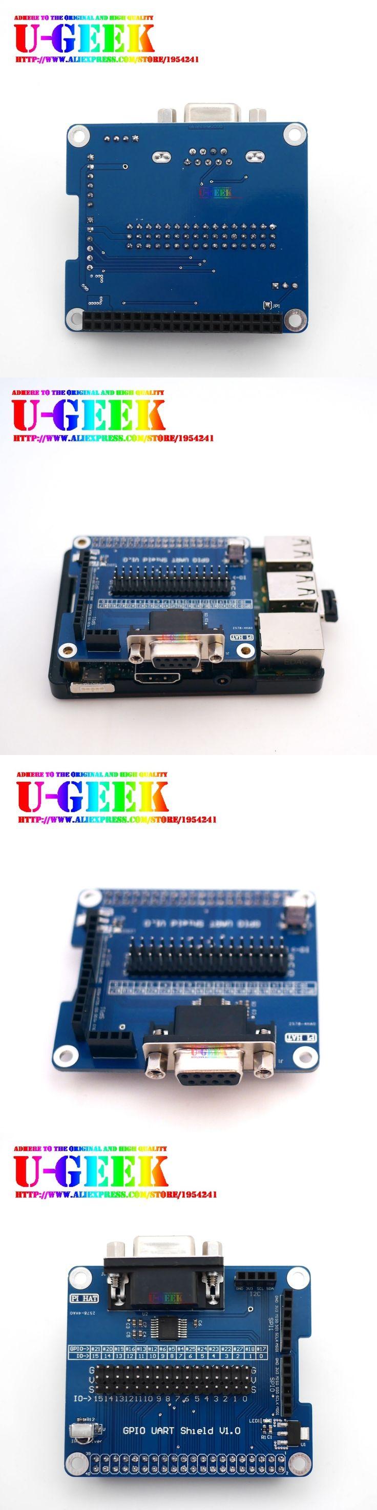 UGEEK Original Design! Serial Port Expansion Board RS232 for Raspberry Pi 3 Model B, 2 B, B+ GPIO UART Shield | With IR receive