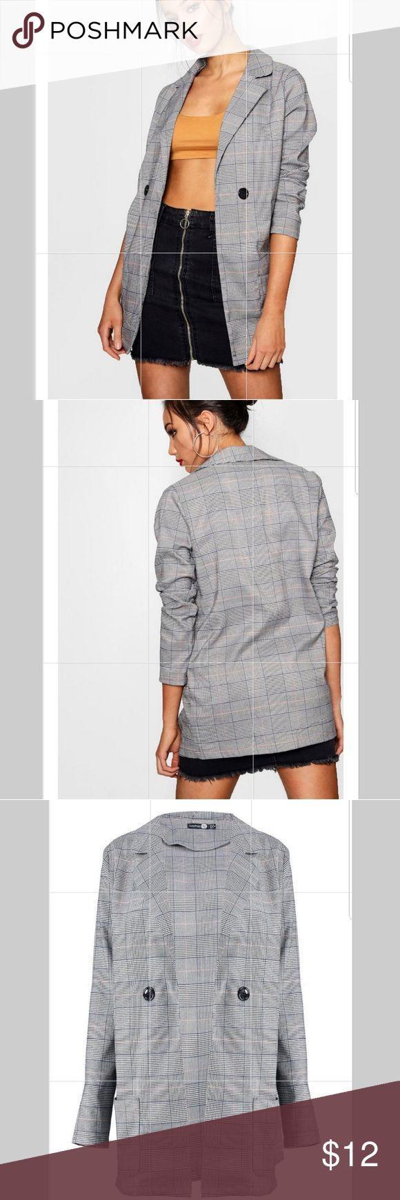 Boohoo tall boyfriend blazer Size 4, net, love! Boohoo Jackets & Coats Blazers