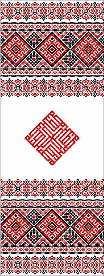 Рушник Любовь - Узоры и орнаменты - Схемы вышивки - Иголка
