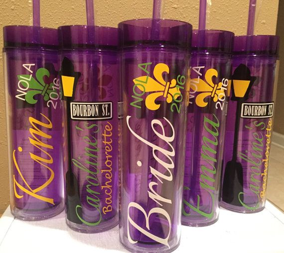 New Orleans Bachelorette Tumblers Mardi Gras by EatLiveLoveNOLA