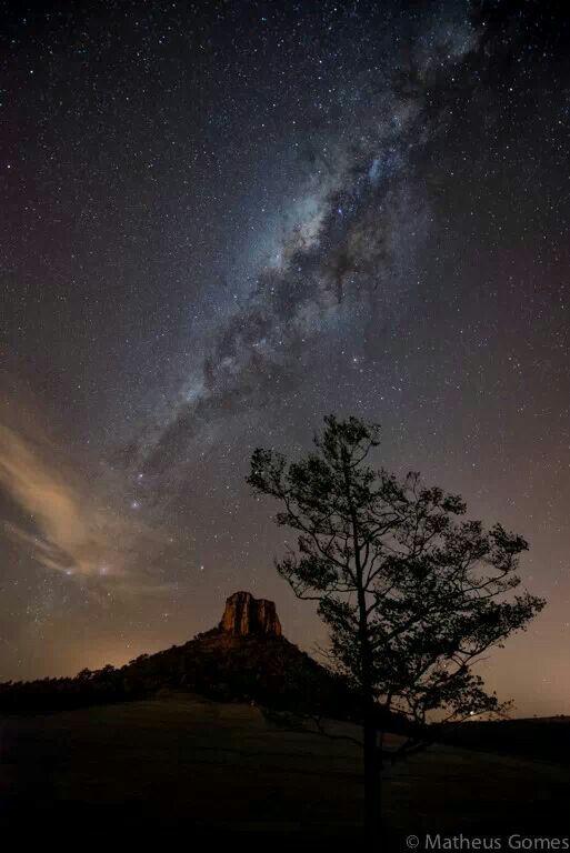 Milky way over Analandia, Sao Paulo. Photo credit Matheus Gomes