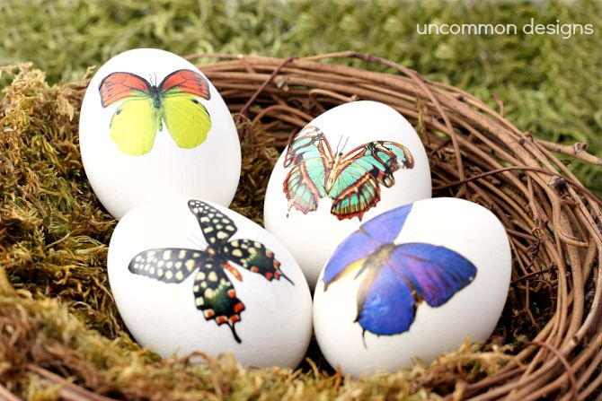 Decorate Easter Eggs with Temporary Tattoos... So pretty and elegant!  #Easter