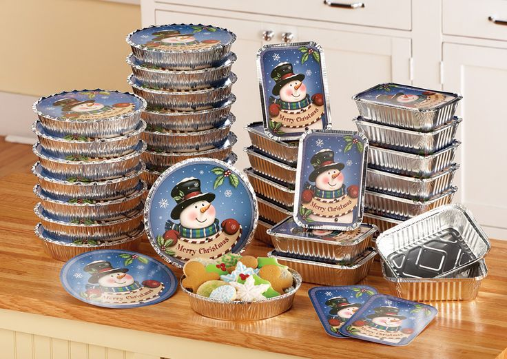 Christmas Winter-Snowman Foil Treat Containers-36 -PC This is a amazing 36-PC set,just think about all the hard work you do baking Christmas goodies for family, friends,co workers and neighbors. And come on ladies after all that hard work,how nice will it be to have this set ready to put all your  goodies in. Anyone who receives this gift of goodies will just love there gift and they will have a nice container to be able to reuse next year…