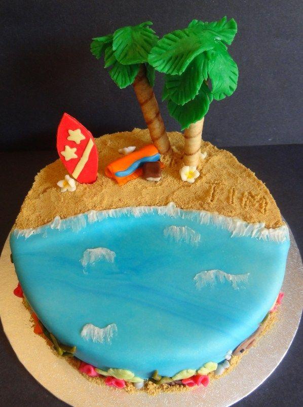 Hawaiian Themes Cupcake Cake