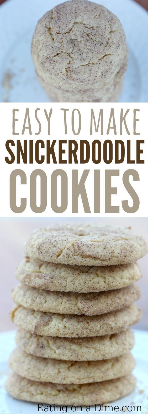 Looking for a delicious cookie recipe? You have to make this easy snickerdoodle recipe.  How to make snickerdoodles with a cake mix!