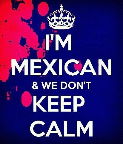 We can keep calm but it's just more difficult for us b/c we are so passionate about so many things;-)  Si se puede!!!