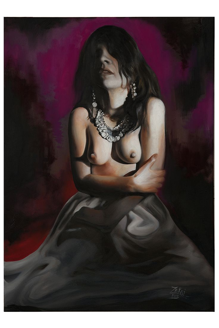 """""""She saw the future""""...50cm on 70cm..oil on canvas. All rights reserved, please do not use this images!."""