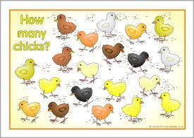 Counting chicks posters (SB3571) - SparkleBox