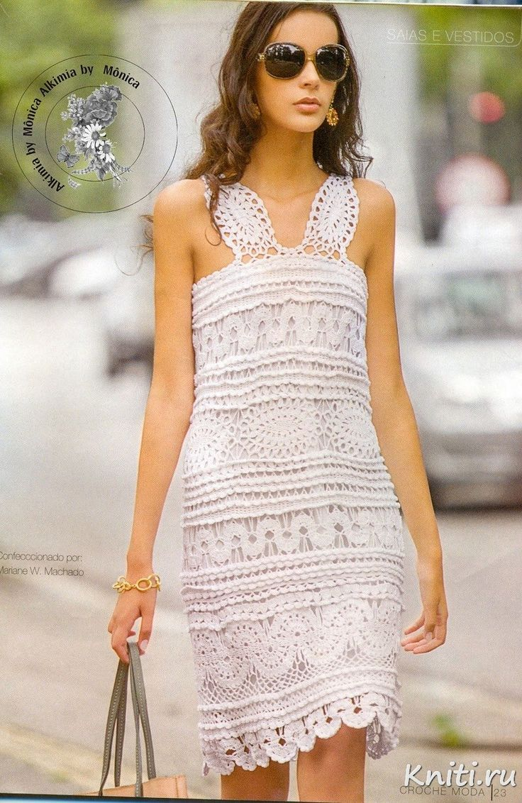 White dress crochet - Find This Pin And More On Free Pattern Skirts Dresses Crochet
