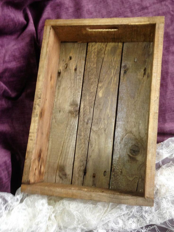 Upcycled Pallet Box / Tray / Shelf by WNWNUpcycling on Etsy