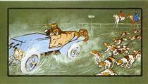 Car and Hunting Fox, Umberto Boccioni