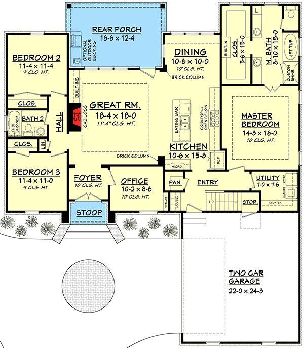 Plan 51705hz 3 Bed Acadian With Bonus Room Bonus Rooms