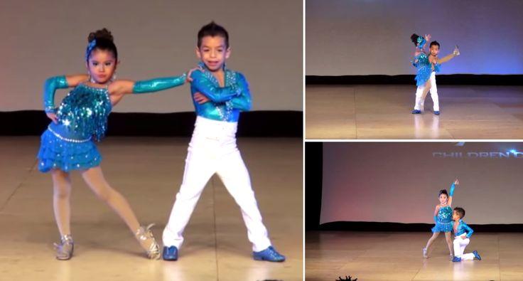 Crianças Fazem Extraordinária Atuação Ao Dançarem Salsa