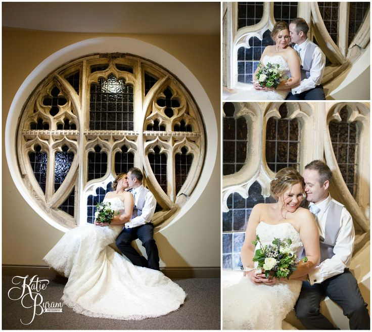 Ellingham Hall wedding, gorgeous window for photographs, wedding photograph ideas, katie byram photography