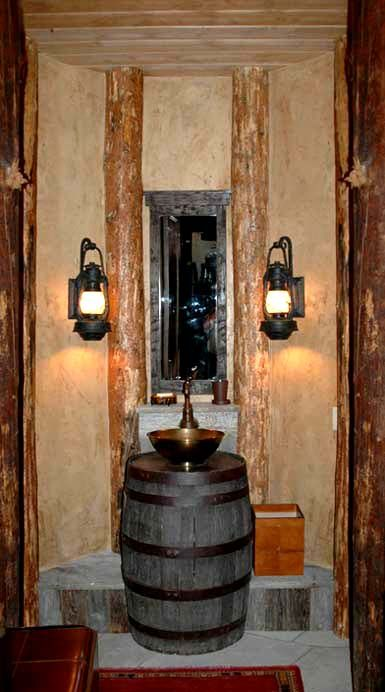 Powder room off wine cellar ;)