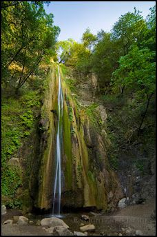 """Nojoqui Falls, near Solvang. Maybe this waterfall may """"underwhelm""""  compared to others worldwide but we locals enjoy its quiet walk back along oaks and Sycamores to experience this refreshing gift at the trail's end. It characterizes the many, special little natural beauties of our region. I'm thankful that's been preserved for the public."""