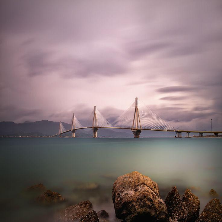 Rio-Antirio Bridge in Patras Greece