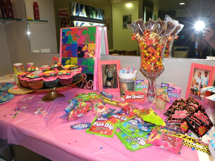 80 39 s candy table 80 39 s party ideas pinterest 80s for 80s theme party decoration