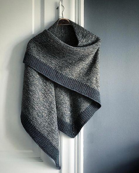 Flackerndes Schalmuster von Camilla Vad #knittingpatterns