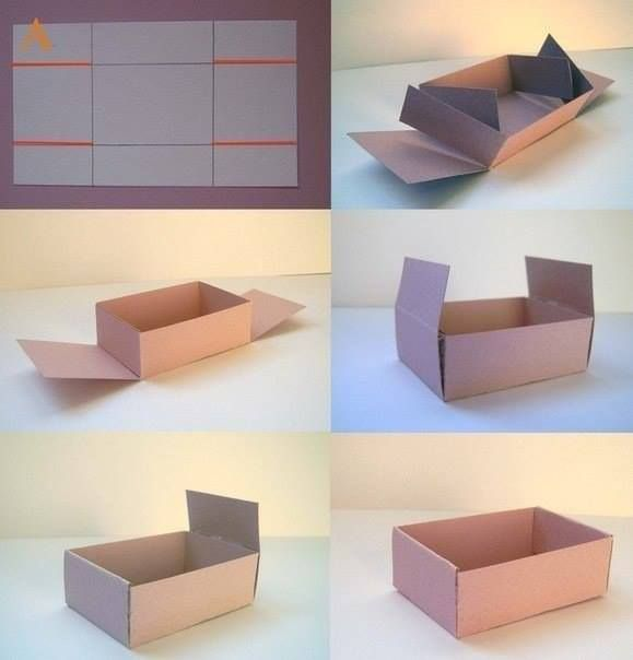 Template is a bit misleading in terms of its sizes of panels, but still a good reference. DIY Cardboard Box ||