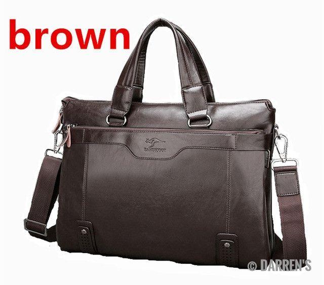 2017 Men Casual Briefcase Business Shoulder Leather Messenger Bags Computer Laptop Handbag Men's Travel Bags handbags