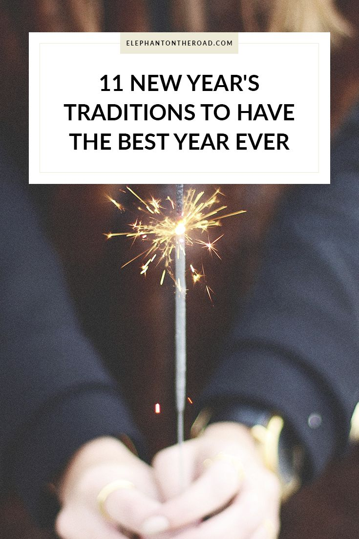 11 New Year's Traditions To Have The Best Year Ever. Rituals. New Year's Eve. Elephant on the Road.