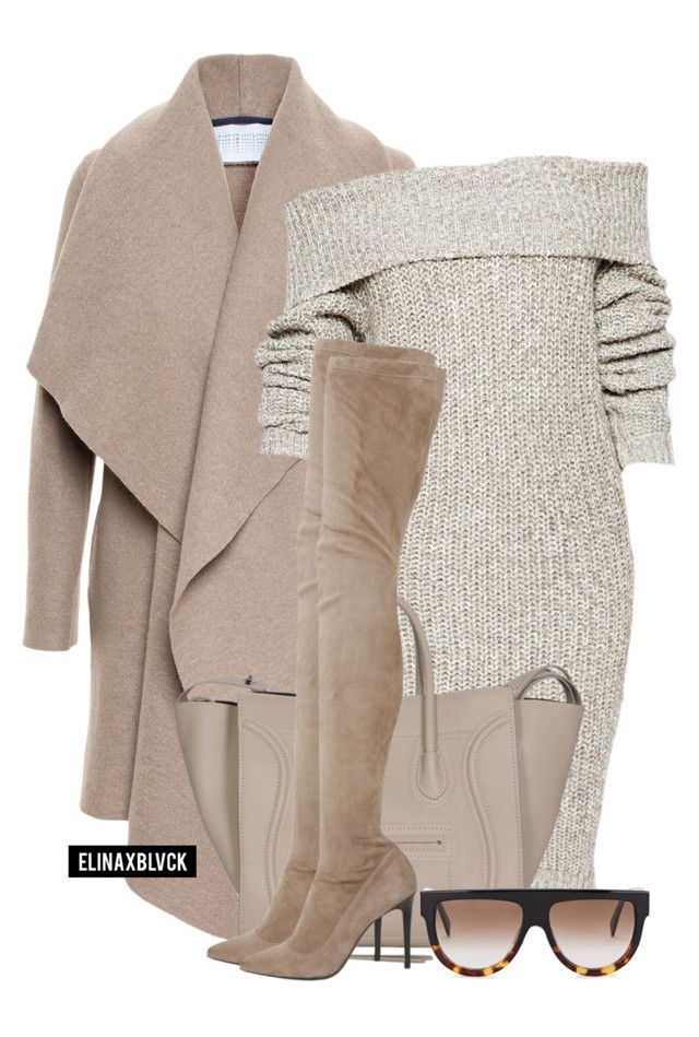 """Untitled #1371"" by elinaxblack ❤ liked on Polyvore featuring Harris Wharf London, Strategia and CÉLINE"