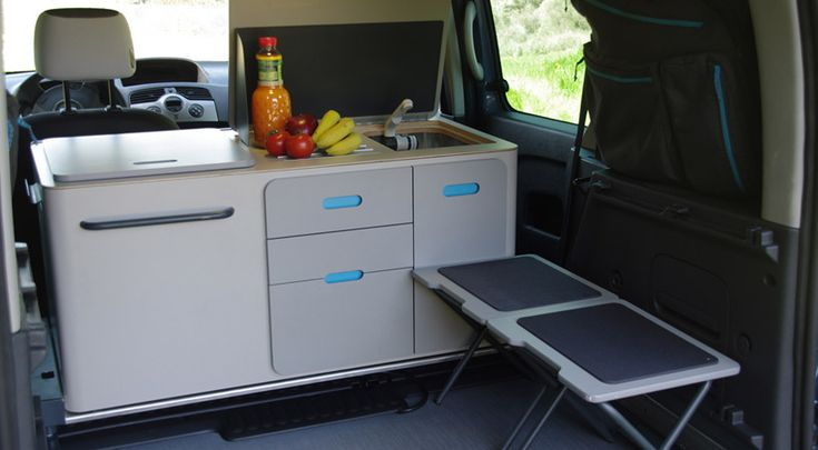 "Ovicuo's ""Kangaroo Camper Travel Pack"" is a portable system that extends the car's interior,..."