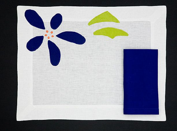 PLACEMAT POP - Red blue