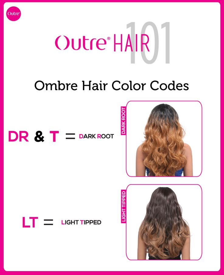 Hair 101: Ombre Hair Color Codes